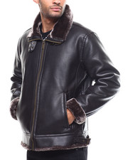 Heavy Coats - Faux Shearling Zipup Jacket-2300075