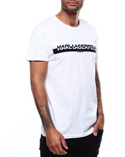 KARL LAGERFELD PARIS - KL Paris Flocked Tee-2300029