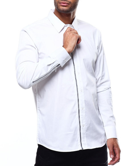 KARL LAGERFELD PARIS - Zip Placket Shirt