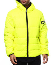 DKNY Jeans - Quilted Logo Hooded Puffer Jacket-2299408