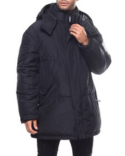 Heavy Coats - LONG HOODED BUBBLE PARKA JACKET-2299388