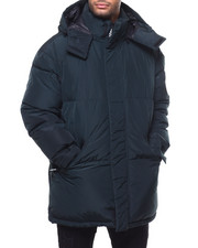 Men - LONG HOODED BUBBLE PARKA JACKET-2298598