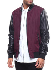 Men - Mixed Media Bomber-2299288