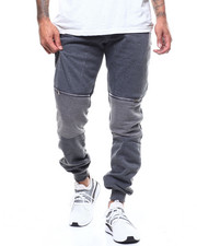 Athleisure for Men - Zip Knee Detail Moto Jogger-2300551