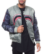 Outerwear - Camo Sleeve APE Bomber BY ROBERT PHILLIPE-2298103