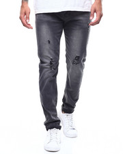 Jeans & Pants - Distressed Jean- Grey Wash-2300446