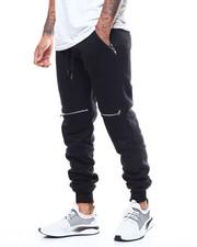 Sweatpants - Zip Knee Detail Moto Jogger-2300409