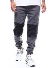 Sweatpants - Paint Knee Detail Moto Jogger-2300529