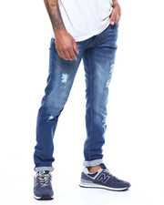Jeans & Pants - MID BLUE RIPPED JEAN-2298884