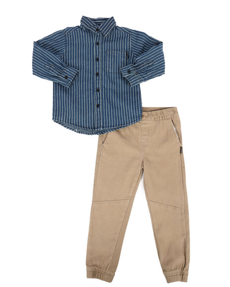 DKNY Jeans - NYC Stripe 2Pc Set (4-7)