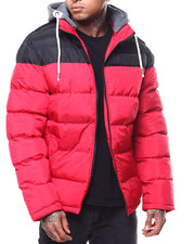Heavy Coats - Colorblock Puffer Jacket-2301303