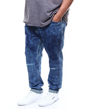 Big & Tall - Knee Ripped Repair Jeans (B&T)-2300600