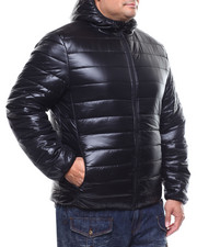 Heavy Coats - Puffy Bomber Hooded Jacket (B&T)-2296890