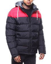 Heavy Coats - Colorblock Puffer Jacket-2301298