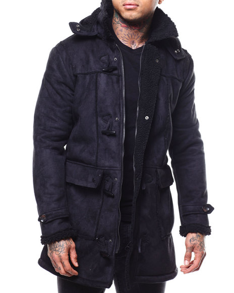 Heritage America - FAUX SHEARLING TOGGLE OVERCOAT