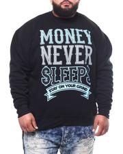 Pullover Sweatshirts - Money Never Sleep Sweatshirt (B&T)-2301886