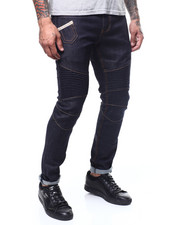 Mens-Holiday - RAW DENIM INDIGO MOTO JEAN-2294121