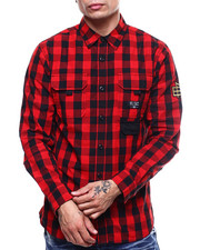 Parish - BUFFALO PLAID PANEL BUTTONDOWN-2301813