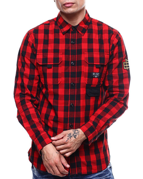 Parish - BUFFALO PLAID PANEL BUTTONDOWN