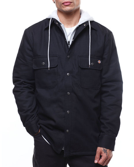 Dickies - Relaxed Fit Hooded Duck Quilted shirt jacket