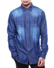 Mens-Holiday - Denim Buttondown Shirt-2301469