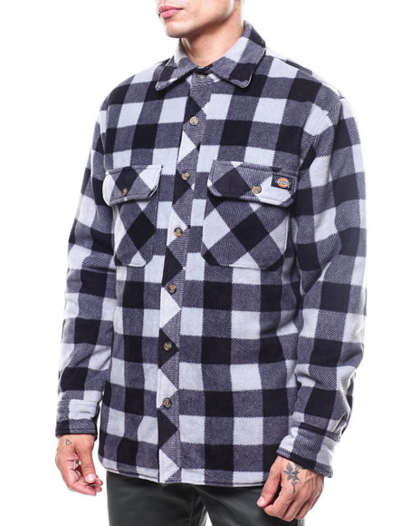 Dickies - Relaxed Fit Micro Fleece Quilted Shirt Jacket