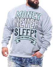 Pullover Sweatshirts - Money Never Sleep Sweatshirt (B&T)-2301874
