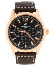 Stocking Stuffers Men - Carribean Joe Black Dial Watch-2296176