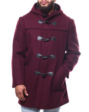 Outerwear - Long Toggel Wool Hooded Coat (B&T)-2302260