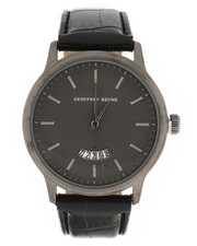 Stocking Stuffers Men - Geoffrey Beene Gunmetal Watch-2296253