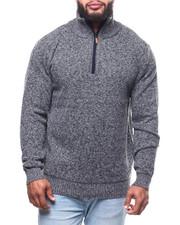 Buyers Picks - 1/4 Zip Fancy Fleece Lined Sweater (B&T)-2302167