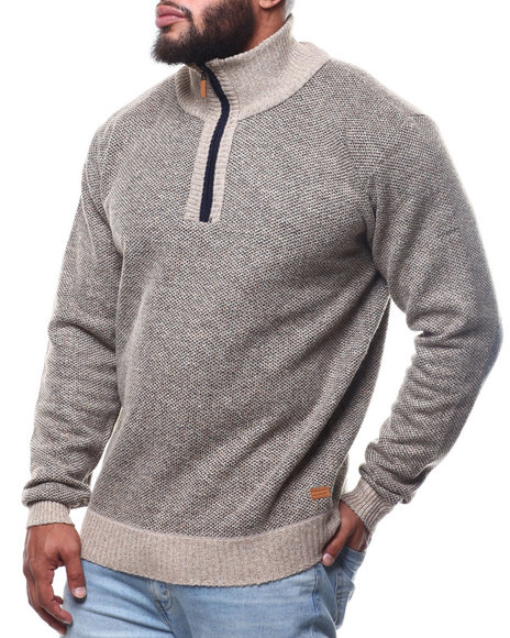 Buyers Picks - 1/4 Zip Fancy Fleece Lined Sweater (B&T)