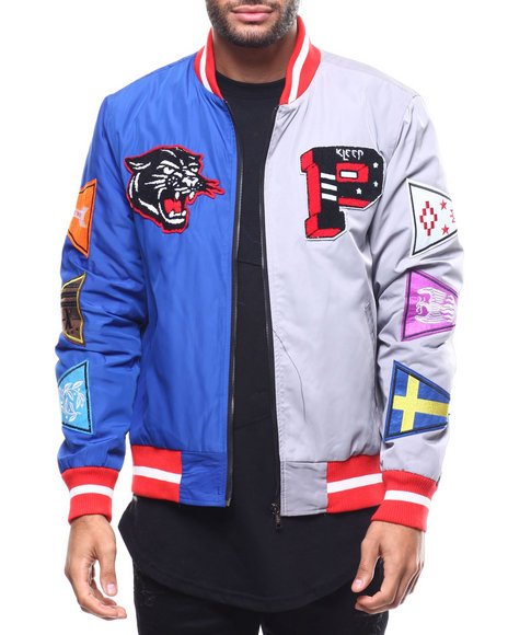 Kleep - Split Nylon Varsity Jacket