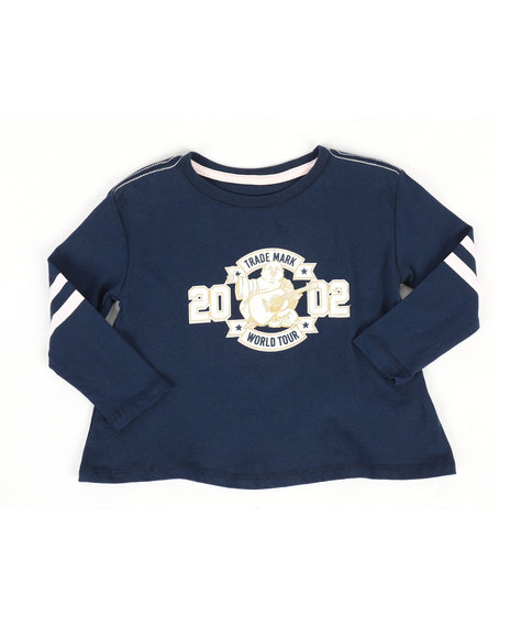True Religion - Long Sleeve Varsity Tee (2T-4T)