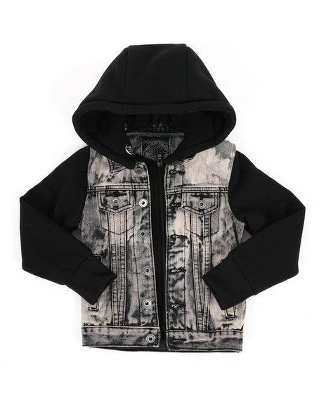 Arcade Styles - Hooded Denim Jacket (4-7)