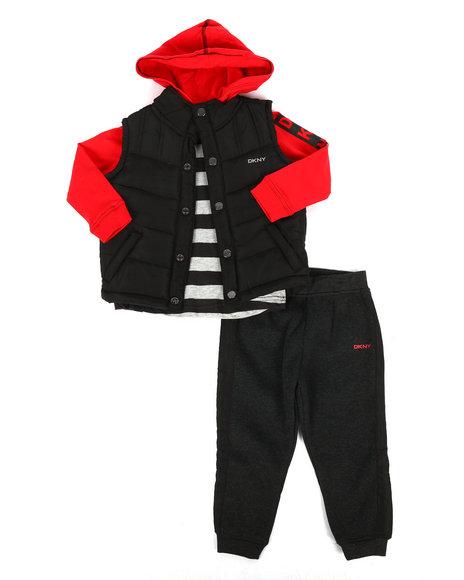 DKNY Jeans - York Avenue 3Pc Vest Set (2T-4T)