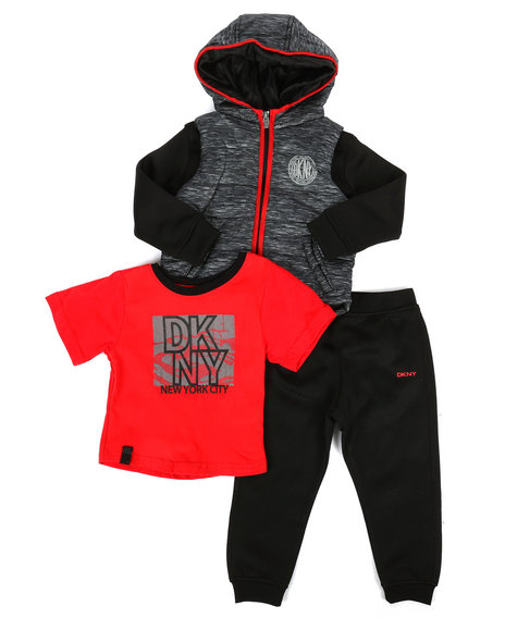 DKNY Jeans - Fulton Street 3Pc Jacket Set (2T-4T)