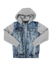 Arcade Styles - Hooded Denim Jacket (8-20)-2297573