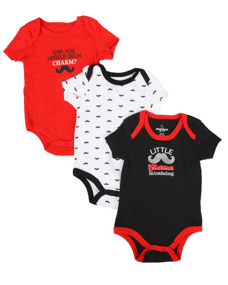 Duck Duck Goose - Little Charmer 3Pk Creepers (0-24 Mo)