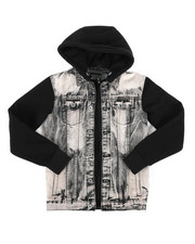 Arcade Styles - Hooded Denim Jacket (8-20)-2297562