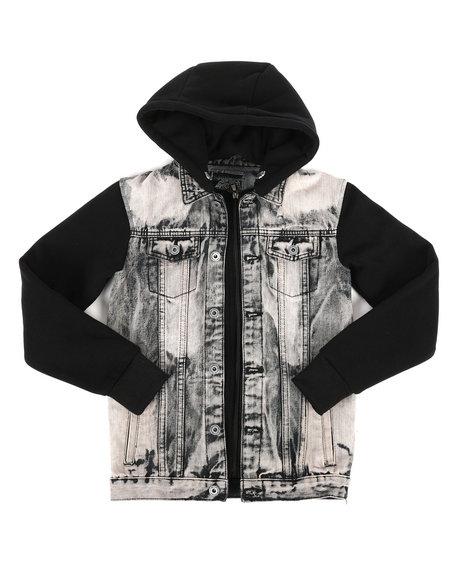 Arcade Styles - Hooded Denim Jacket (8-20)