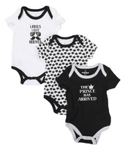 Duck Duck Goose - Prince 3Pk Creeper Set (0-24 Mo)-2298803