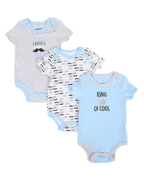 Duck Duck Goose - King Cool 3Pk Creeper Set (0-24)