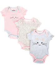 Duck Duck Goose - Meow 3 Pack Creeper Set (Infant)-2298793