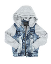 Denim Jackets - Hooded Denim Jacket (4-7)-2298696