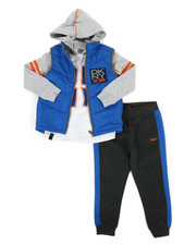 Boys - York Avenue 3Pc Vest Set (4-7)-2297116