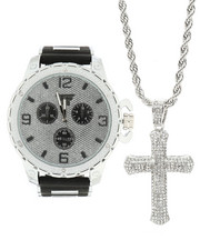 Accessories - 3 Piece Watch and Necklace Set-2298189