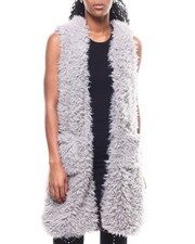 Fashion Lab - Long Faux Fur Vest-2301108