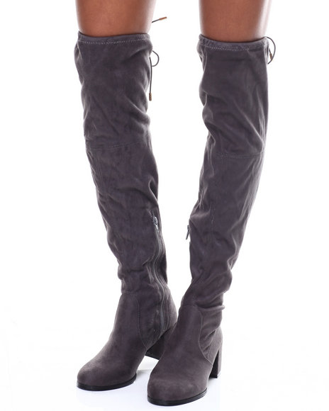 Fashion Lab - Aniq Chunky Heel Tall Boot