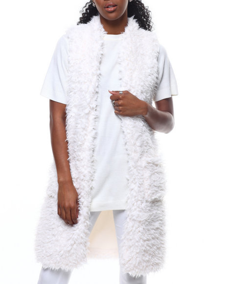 Fashion Lab - Long Faux Fur Vest